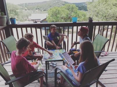 Kids on porch