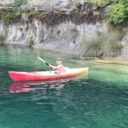 Ethan kayaking