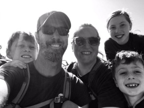 Family pic hiking