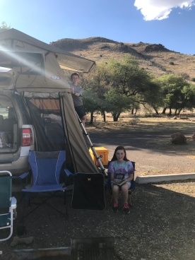 Karis and Ethan tent