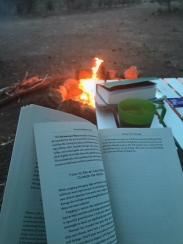 reading over the fire