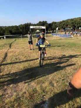 Ethan race finish