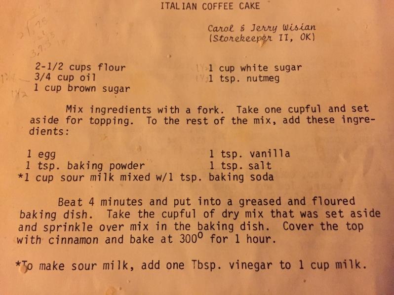 Italian Coffee Cake