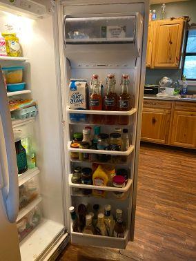 inside fridge door