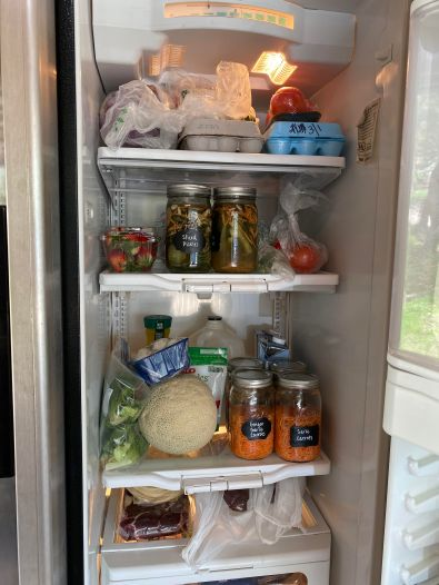 Outside fridge