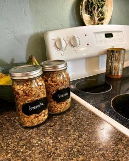 Granola in jars
